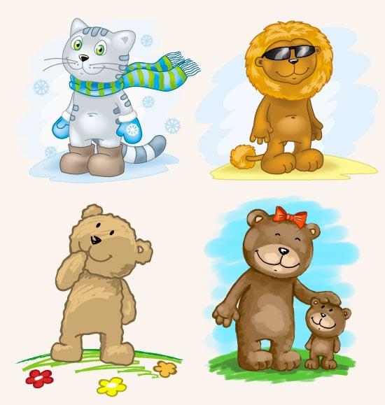 Персонажи лев медведи кот – Новости студии дизайна «Aedus Design»