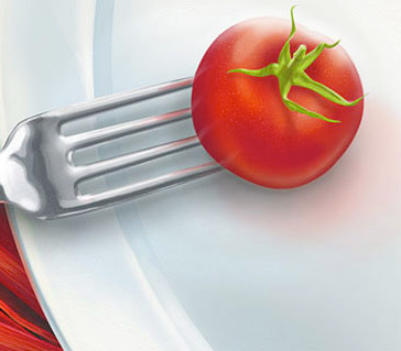 рисованный помидор – Новости студии дизайна «Aedus Design»