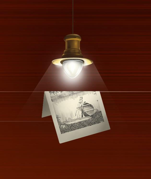 Изображение: рисунок старинной лампы