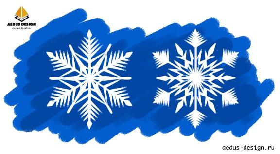 разработка иллюстраций снежинки