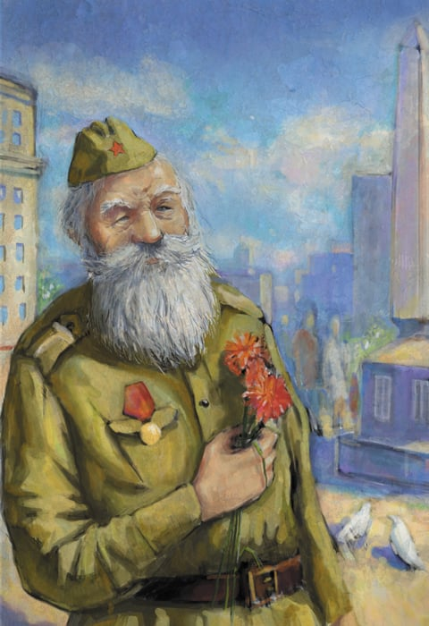 открытка к 9 мая рисунок ветерана – Новости студии дизайна «Aedus Design»