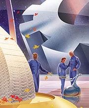 Иллюстрация для календаря «Вагонмаш»