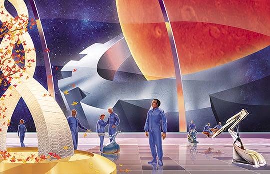 Иллюстрация для календаря «Вагонмаш» в разделе «Иллюстрации» портфолио дизайн-студии «Aedus Design»