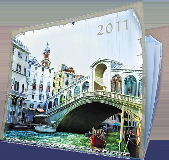 Календарь «Ceccato» в разделе «Календари» портфолио дизайн-студии «Aedus Design»