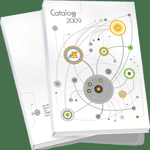 Каталог «РК-Телеком» в разделе «Брошюры, каталоги» портфолио дизайн-студии «Aedus Design»