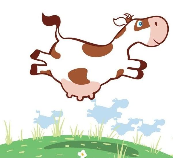 иллюстрация - летающие коровы – Новости студии дизайна «Aedus Design»