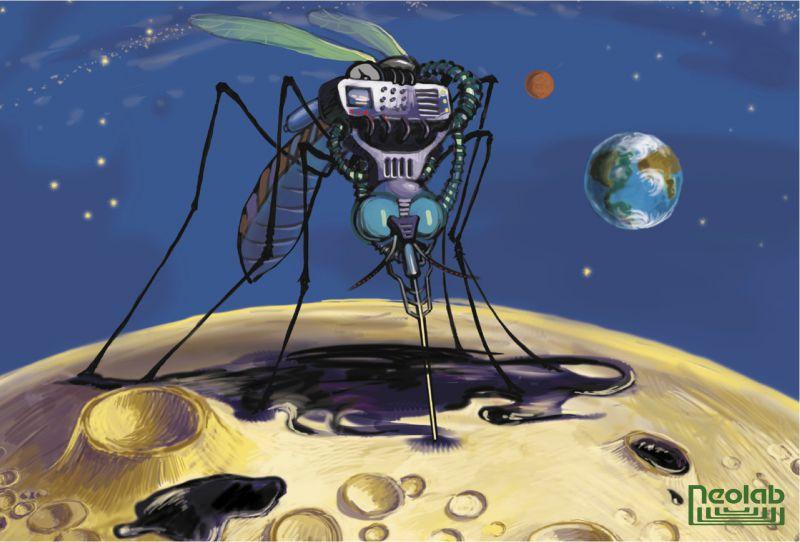 рисованный персонаж - комар – Новости студии дизайна «Aedus Design»