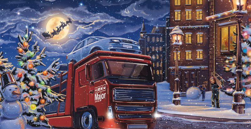 иллюстрация новогоднего европейского городка – Новости студии дизайна «Aedus Design»