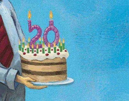 иллюстрация - юбилейный тортик для банка