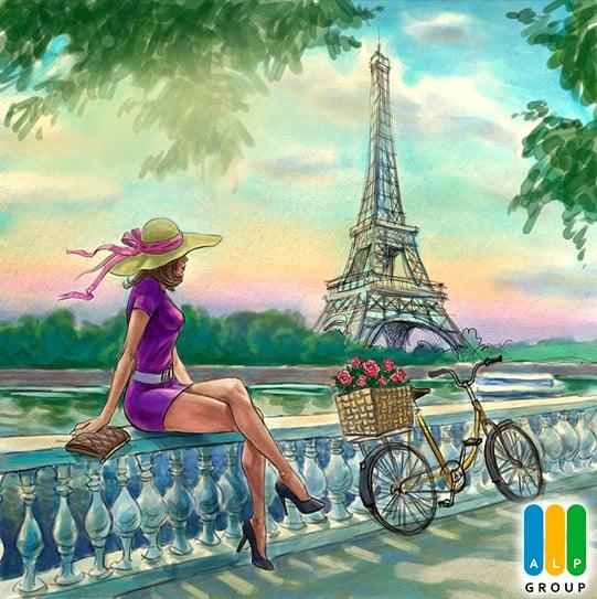 Иллюстрация для открытки к 8 марта в разделе «Иллюстрации» портфолио дизайн-студии «Aedus Design»