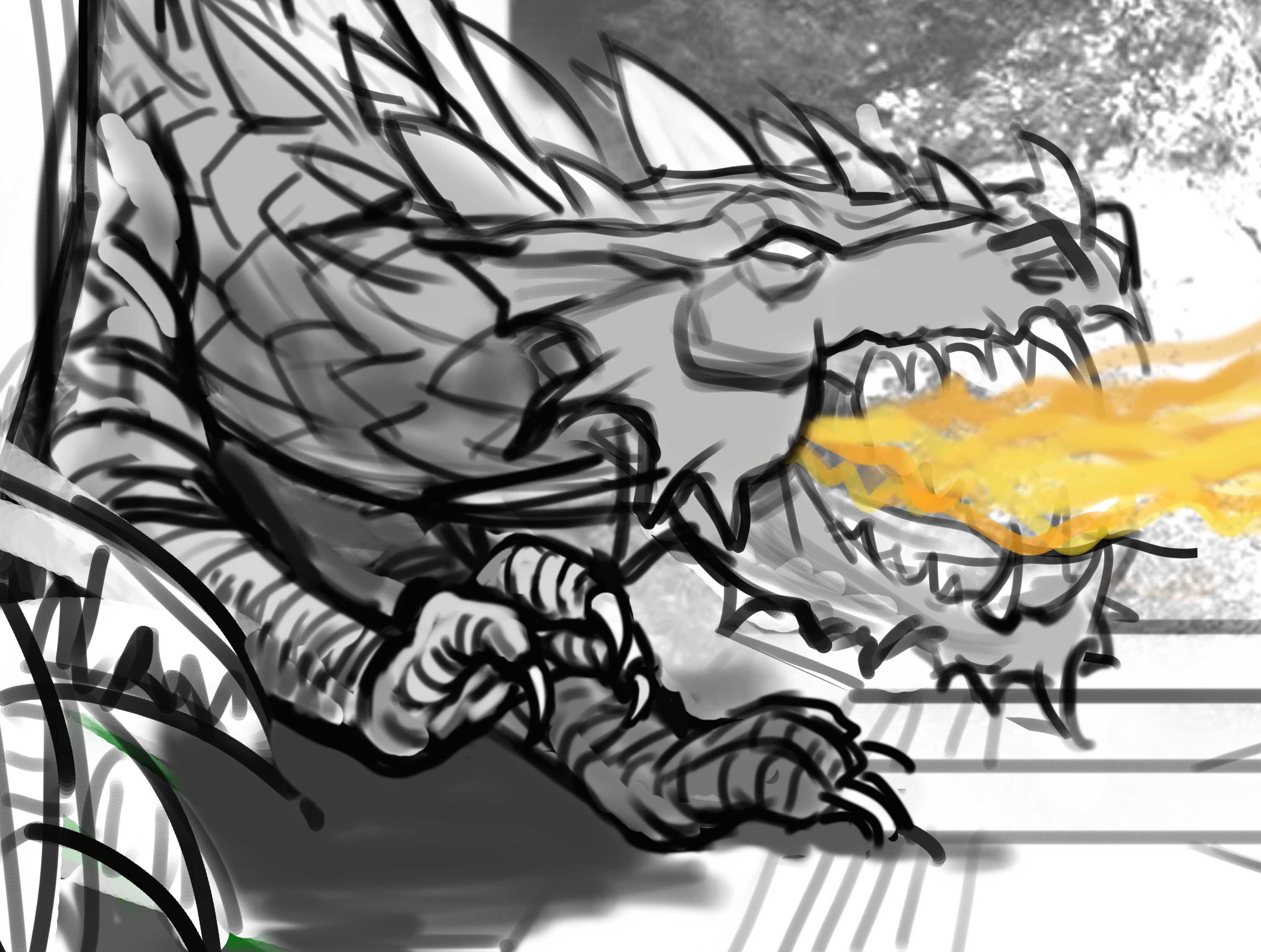 Изображение: Доработка позы дракона