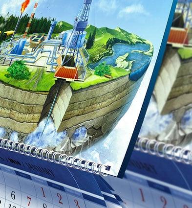Дизайн и изготовление настенных календарей