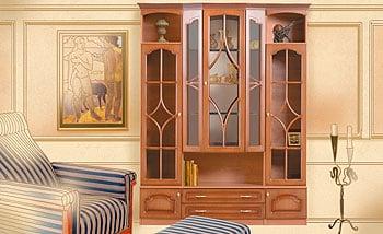 рисунок интерьера мебель