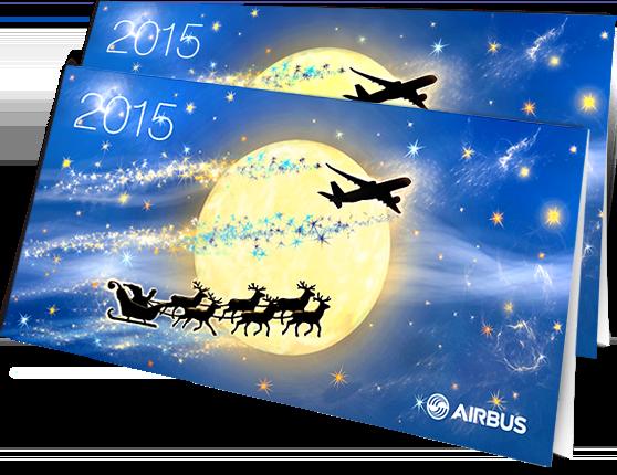 Открытки Airbus в разделе «Открытки» портфолио дизайн-студии «Aedus Design»
