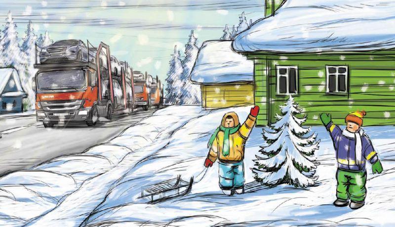 фрагмент рисунка для новогодней открытки – Новости студии дизайна «Aedus Design»