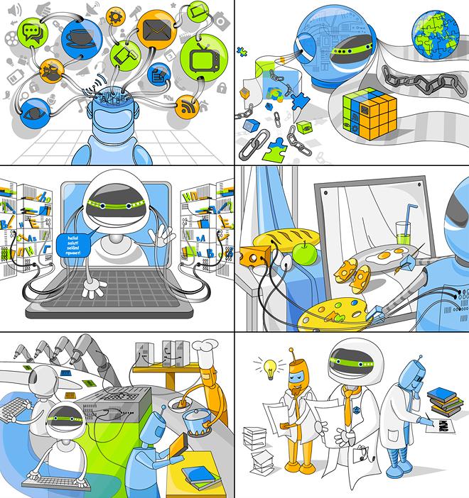 Иллюстрации для буклета «Мивар» в разделе «Иллюстрации» портфолио дизайн-студии «Aedus Design»