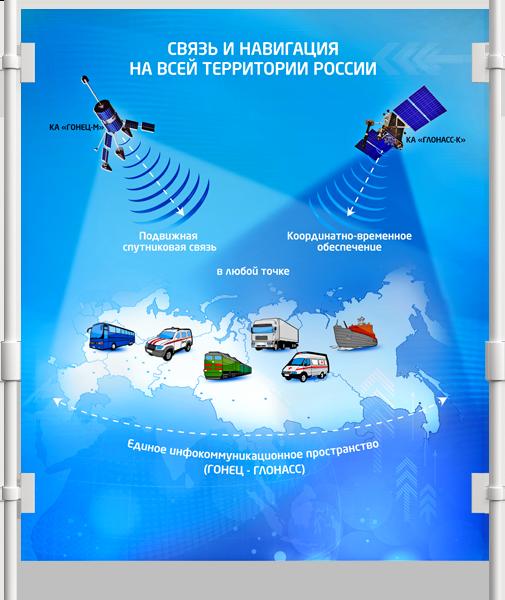 Постер «Гонец. Спутниковая система» в разделе «Наружная реклама» портфолио дизайн-студии «Aedus Design»