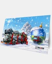 Новогодняя открытка «Major»