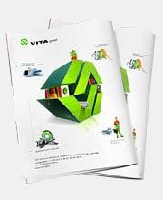 Дизайн рекламного модуля «VITA GROUP»