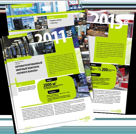 Промо-листовки «Окно-ТВ» в разделе «Разное» портфолио дизайн-студии «Aedus Design»
