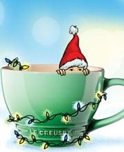 Иллюстрация для новогодней рекламной продукции Le Creuset Россия