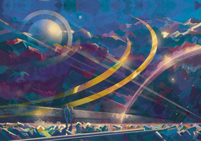 Иллюстрации для новогодней рекламной продукции «Глобал Тел» в разделе «Иллюстрации» портфолио дизайн-студии «Aedus Design»