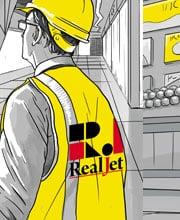 Серия иллюстраций для рекламных модулей «RealJet»