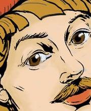 Иллюстрированный персонаж — Скоморох — для подарочных игральных карт