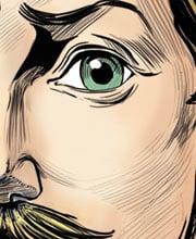 Иллюстрированный персонаж — Приказчик — для подарочных игральных карт