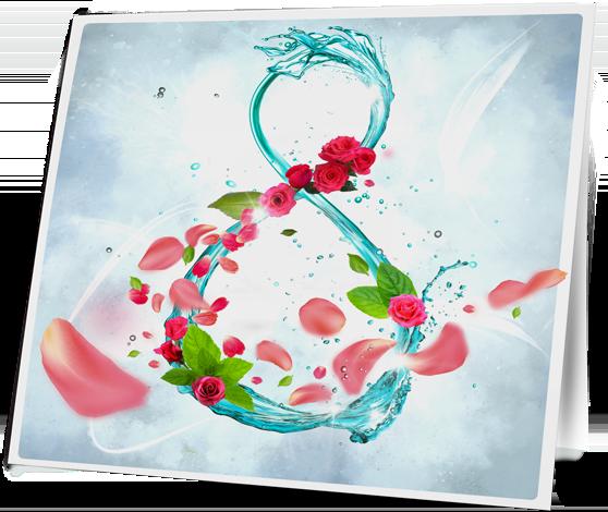Открытка к 8-му марта «Aquaform» в разделе «Открытки» портфолио дизайн-студии «Aedus Design»