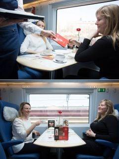 Рекламная акция Tabasco в поездах Сапсан