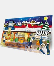 Новогодняя открытка ОАО «Завод гидромеханизации»