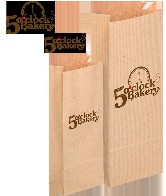 Логотип для пекарен «5 o-clock Bakery» в разделе «ID» портфолио дизайн-студии «Aedus Design»