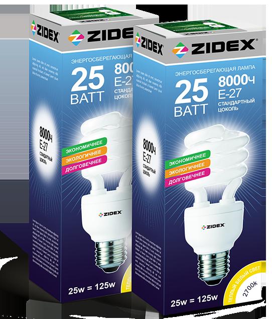 Дизайн упаковки энергосберегающих ламп в разделе «Упаковка» портфолио дизайн-студии «Aedus Design»