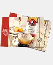 Промо-буклет бренда сиропов DaVinchi Gourmet