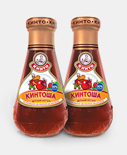 Дизайн этикетки детского кетчупа «Кинтоша»