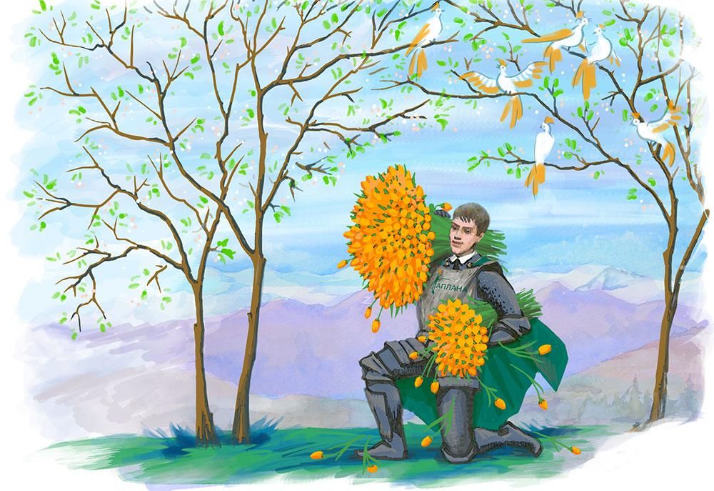 Изображение: ... и отрисовали героя-рыцаря, но слишком молодым.