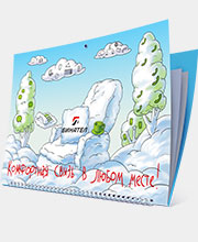 Новогодний календарь «Бинател» в портфолио студии дизайна «Aedus Design»