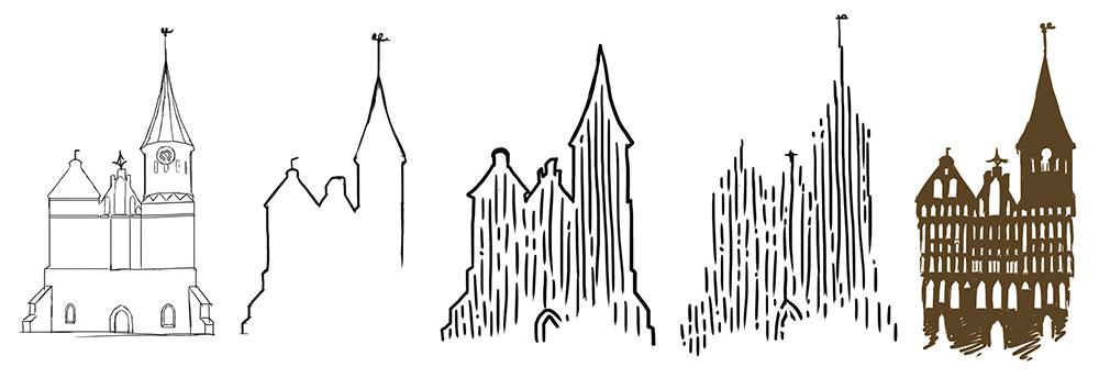 Изображение: Этапы «рождения» концепции отражений на воде