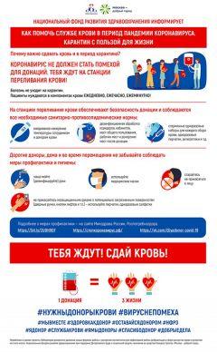 Инфографика: коронавирус и донорское движение