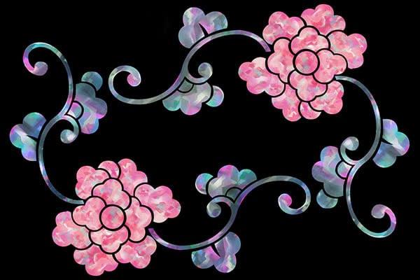 Иллюстрация цветочного орнамента  в разделе «Иллюстрации» портфолио дизайн-студии «Aedus Design»