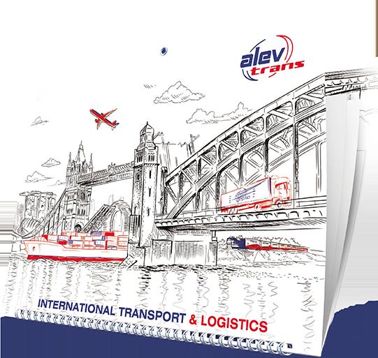 Календарь «AlevTrans» на 2020 год в разделе «Календари» портфолио дизайн-студии «Aedus Design»