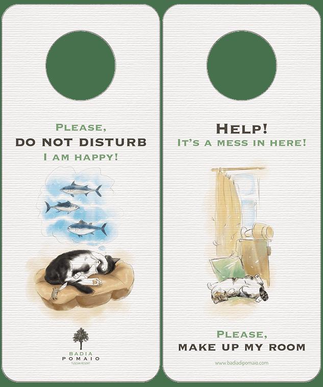 Таблички на дверь отеля в разделе «Разное» портфолио дизайн-студии «Aedus Design»