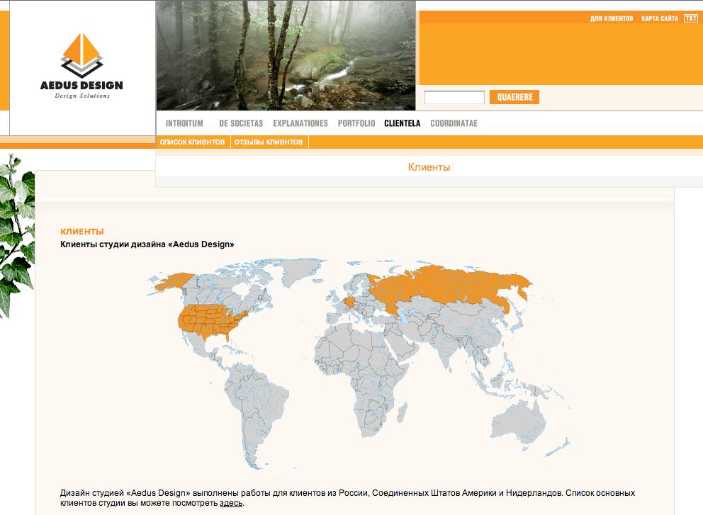 карта сайта дизайн студия